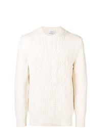 Мужской белый вязаный свитер от Alexander McQueen