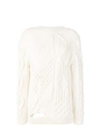 Женский белый вязаный свитер от Almaz