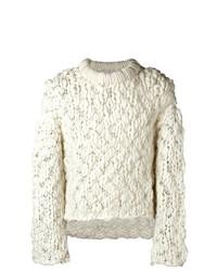 Мужской белый вязаный свитер от Ambush