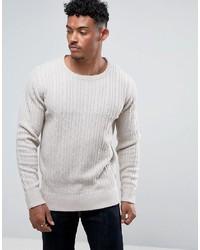 Мужской белый вязаный свитер от Brave Soul