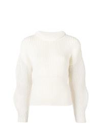 Женский белый вязаный свитер от Chloé