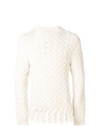 Мужской белый вязаный свитер от JW Anderson