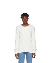 Мужской белый вязаный свитер от Maison Margiela
