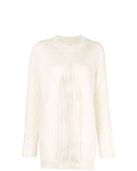Женский белый вязаный свитер от Maison Margiela