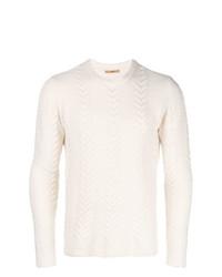 Мужской белый вязаный свитер от Nuur