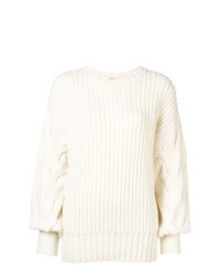 Женский белый вязаный свитер от P.A.R.O.S.H.