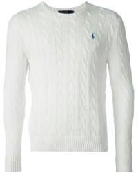 Мужской белый вязаный свитер от Polo Ralph Lauren