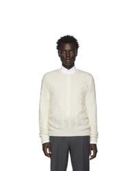 Мужской белый вязаный свитер от Ralph Lauren Purple Label