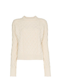 Женский белый вязаный свитер от Rejina Pyo