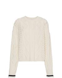 Женский белый вязаный свитер от Saint Laurent