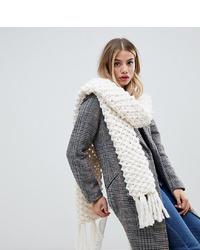 Женский белый вязаный шарф от My Accessories