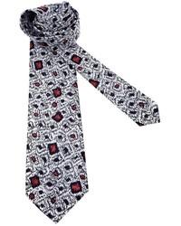 Мужской белый галстук с принтом от Pierre Cardin