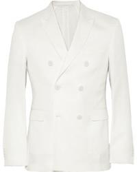Мужской белый двубортный пиджак от Burberry