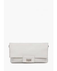 Белый кожаный клатч от Labbra