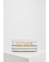 Белый кожаный клатч от MICHAEL Michael Kors