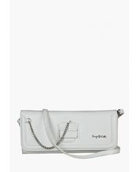 Белый кожаный клатч от Sergio Belotti