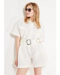 Белый комбинезон с шортами от Laroom