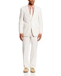 Белый костюм из жатого хлопка