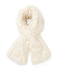 Женский белый меховой шарф от Emma Brewin