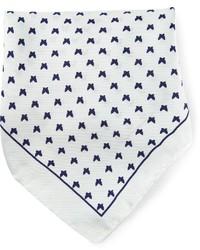 Белый нагрудный платок с принтом от fe-fe