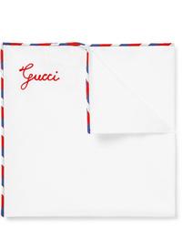 Белый нагрудный платок от Gucci