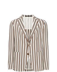 Мужской белый пиджак в вертикальную полоску от Tagliatore