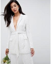 Женский белый пиджак с украшением от ASOS EDITION