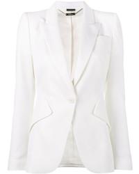 Женский белый пиджак от Alexander McQueen