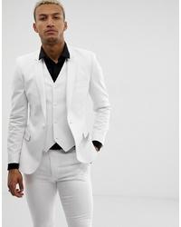 Мужской белый пиджак от ASOS DESIGN