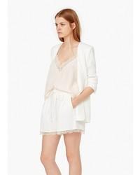 Женский белый пиджак от Mango Outlet