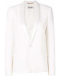 Женский белый пиджак от Saint Laurent
