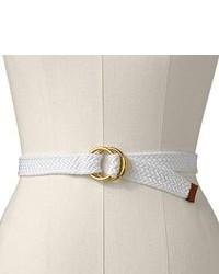 Белый ремень из плотной ткани