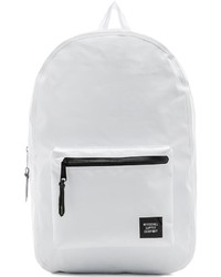 Белый рюкзак из плотной ткани