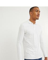 Мужской белый свитер с воротником поло от ASOS DESIGN