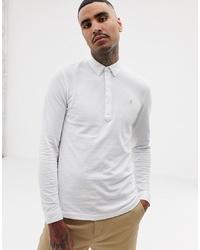 Мужской белый свитер с воротником поло от Farah