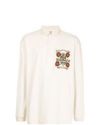 Мужской белый свитер с воротником поло от Kent & Curwen