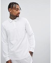 Мужской белый свитер с воротником поло от Nike SB