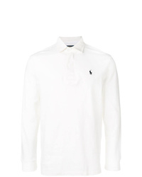 Мужской белый свитер с воротником поло от Polo Ralph Lauren