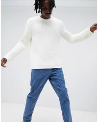 Мужской белый свитер с круглым вырезом от ASOS DESIGN