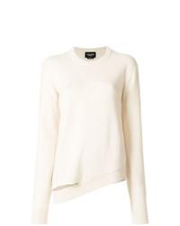 Женский белый свитер с круглым вырезом от Calvin Klein 205W39nyc