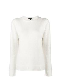 Женский белый свитер с круглым вырезом от Cashmere In Love