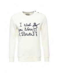 Мужской белый свитер с круглым вырезом от Celio