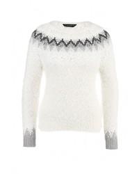 Женский белый свитер с круглым вырезом от Dorothy Perkins
