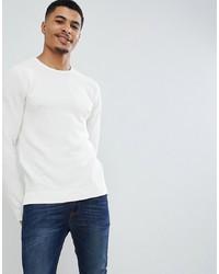 Мужской белый свитер с круглым вырезом от Jack & Jones