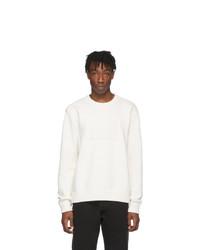 Мужской белый свитер с круглым вырезом от Maison Margiela