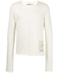 Мужской белый свитер с круглым вырезом от Misbhv