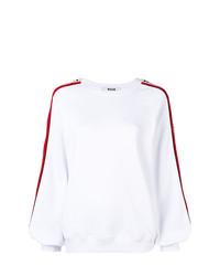 Женский белый свитер с круглым вырезом от MSGM