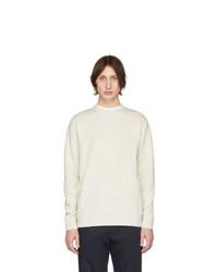 Мужской белый свитер с круглым вырезом от Norse Projects
