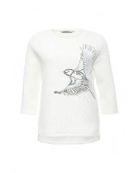 Женский белый свитер с круглым вырезом от Sela