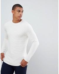 Мужской белый свитер с круглым вырезом от Selected Homme